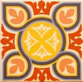 Деталь традиционных плиток от фасада старого дома декоративные плитки Valencian традиционные плитки флористический орнамент Стоковые Изображения