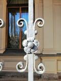Деталь украшения ворот металла стоковые изображения