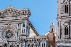 Деталь фасада собора Флоренса Стоковая Фотография RF