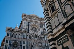 Деталь фасада собора Флоренса Стоковое Фото