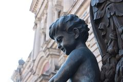 Деталь фонарика с детьми стоковое изображение
