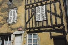 Деталь Франции средневековая архитектурноакустическая в Noyers-Sur-Serein Стоковая Фотография RF