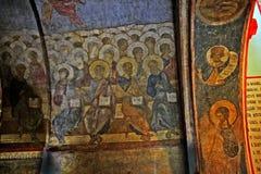 Деталь фрески Andrei Rublev стоковое изображение rf