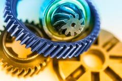 Деталь цвета различных gearwheels Стоковые Фотографии RF