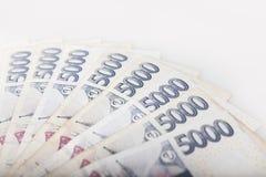 Деталь чехословакских денег - чехословакская валюта Стоковое фото RF