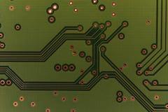Деталь электрической монтажной платы жёсткого диска компьютера Стоковое фото RF
