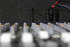 Деталь ядрового смесителя с заткнутыми кабелями Стоковые Фото
