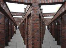 деталь daimler chrysler здания стоковое изображение rf