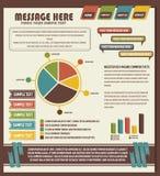 Деталь infographic Стоковое Изображение RF
