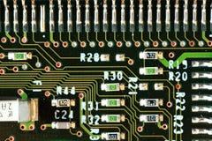 Деталь makro mainboard компьютера стоковое фото rf