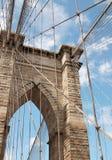 Деталь New York Бруклинского моста стоковое изображение rf