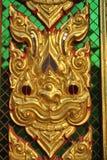 Детализируйте здание архитектуры буддийское в nonthaburi Таиланде wat виска buakwan Стоковое Изображение RF