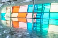 Детализируйте съемку сделанной по образцу стены, архитектурноакустической характеристики, конца-вверх стоковые изображения rf