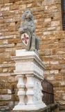 Детализируйте della Signoria Palazzo Vecchio или Palazzo в Флоренсе, Италии Стоковые Изображения RF