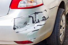 Детали бронзового автомобиля в аварии Стоковое Фото