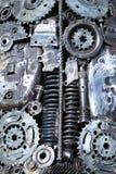 Детали двигателя абстрактная предпосылка Стоковая Фотография