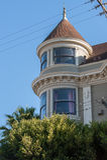 Детали викторианской архитектуры в Сан-Франциско Калифорнии США Архитектура жилых домов с красочные фасады Стоковое Изображение