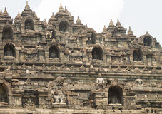 Детали виска Borobudur около yogyakarta на острове Ява, Indo Стоковая Фотография RF
