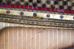 Детали внутри рояля Стоковое Фото