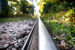 Детали железнодорожные пути Стоковые Фотографии RF