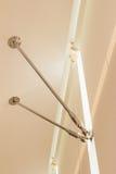 Детали конструкции - комплект нержавеющей стали для того чтобы держать лучи для того чтобы поддержать окна Стоковое Изображение RF