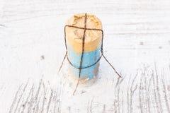 Детали конструкции: Рукав трубы PVC после лить бетон Стоковая Фотография