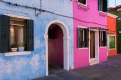 Детали красивой, красочной деревни Burano Стоковое Изображение