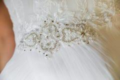 Детали мантии невесты Стоковая Фотография RF