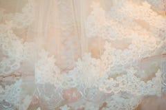 Детали мантии свадьбы Стоковые Фото