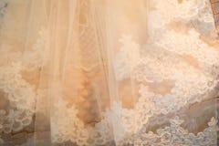 Детали мантии свадьбы Стоковые Изображения