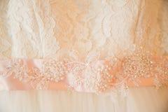 Детали мантии свадьбы Стоковая Фотография RF