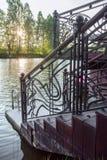 Детали металла выковали загородку Стоковые Фото