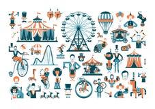 Детали милого представления цирка родственные иллюстрация штока