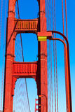 Детали моста золотого строба в Сан-Франциско Калифорнии Стоковые Изображения
