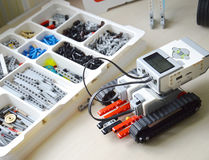 Детали набора для робототехники Стоковые Фото