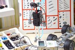 Детали набора для робототехники Стоковое фото RF