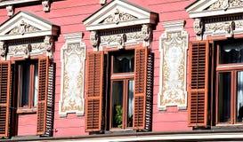Детали на исторических зданиях стоковое фото