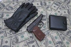 Детали на предпосылке долларов Стоковое Фото