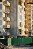 Детали незаконченного здания на строительной площадке Стоковая Фотография