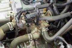 Детали новых двигателя и приложений автомобиля стоковая фотография
