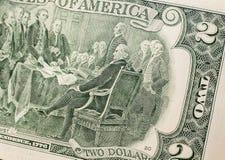 Детали долларовой банкноты 2 Стоковое Фото