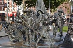 Детали памятника Рембрандта Стоковая Фотография