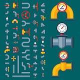 Детали пускают собрание разных видов конструкции клапана для впуска горючей смеси индустрии трубки воды и давления по трубам масл Стоковое Изображение RF
