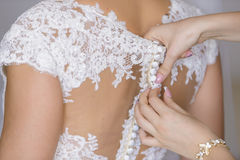 Детали платья Стоковое Фото