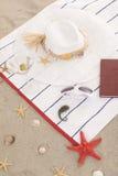 Детали пляжа на песке на лето потехи Стоковые Изображения RF