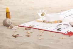 Детали пляжа на песке на лето потехи Стоковые Изображения