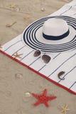 Детали пляжа на песке на лето потехи Стоковое Изображение RF