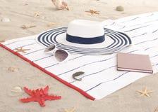 Детали пляжа на песке на лето потехи Стоковые Фотографии RF