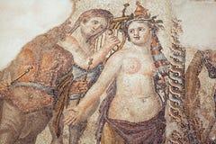 Римская мозаика в Pafos, Кипр стоковые изображения rf