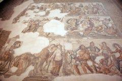 Римская мозаика в Paphos, Кипр стоковые изображения